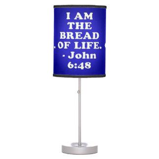 Luminária De Mesa Verso da bíblia do 6:48 de John.