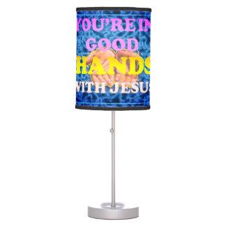 Luminária De Mesa Você está nas boas mãos com Jesus!
