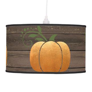 Luminária De Teto Abóbora de madeira rústica do outono do ouro