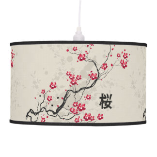 Luminária De Teto Arte oriental da flor de cerejeira de Sakura do
