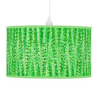 Luminária De Teto As listras e os pontos do cetim abstraem, verde