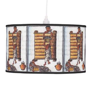Luminária De Teto Astecas que armazenam o milho