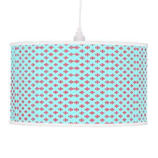 Luminária De Teto Azul de turquesa & luz vermelha carmesim