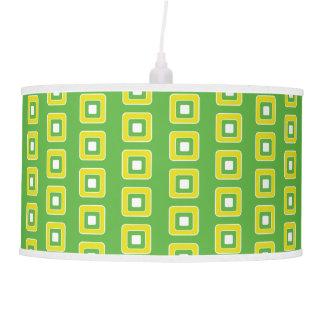 Luminária De Teto Azulejos verdes e amarelos do divertimento do