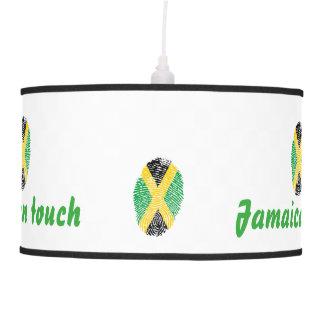 Luminária De Teto Bandeira jamaicana da impressão digital do toque