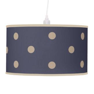 Luminária De Teto Bolinhas azuis escuro e da neve do branco
