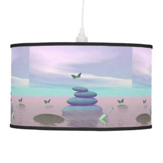 Luminária De Teto Borboletas em vôo em uma paisagem do zen