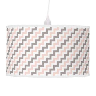 Luminária De Teto Chevron cor-de-rosa cinzento branco diagonal