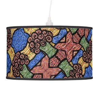 Luminária De Teto Cores brilhantes do teste padrão floral abstrato