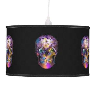 Luminária De Teto Crânio floral surpreendente A