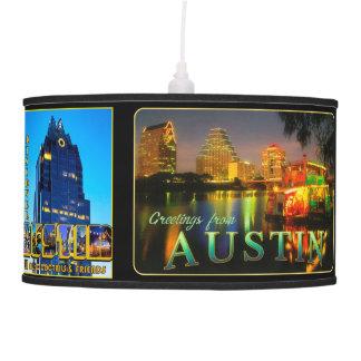 Luminária De Teto Cumprimentos de Austin em cartão do vintage da