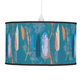 Luminária De Teto Design decorativo da pena no azul personalizado