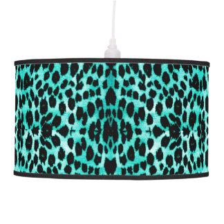 Luminária De Teto Do impressão animal verde do leopardo da cerceta