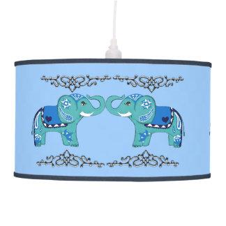 Luminária De Teto Elefante do Henna (azul/luz - azul)