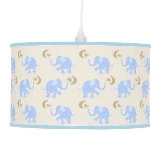 Luminária De Teto Elefantes dos azuis bebés com estrelas & berçário