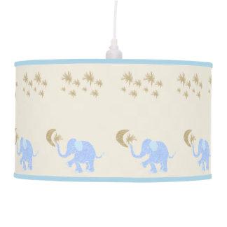 Luminária De Teto Elefantes dos azuis bebés sob o berçário estrelado