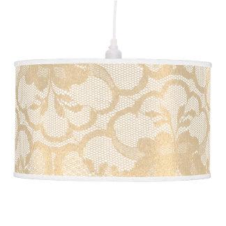 Luminária De Teto Encanto real branco Glam do laço do ouro do Sepia