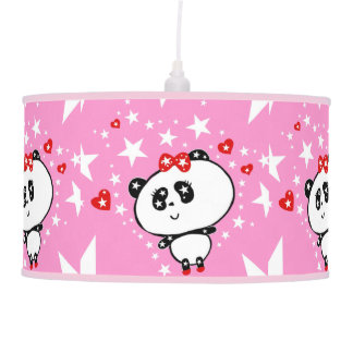 Luminária De Teto Engraçado bonito dos ursos de panda personalizado