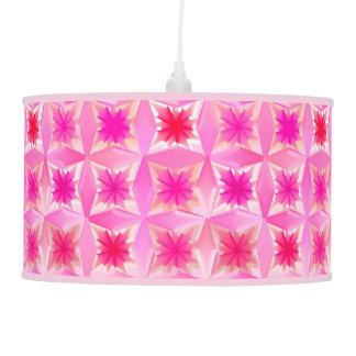 Luminária De Teto Estrelas da aguarela, fúcsia e rosa abstratos do