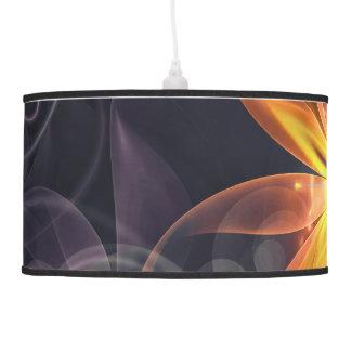 Luminária De Teto Flor alaranjada bonita do Fractal do lírio da