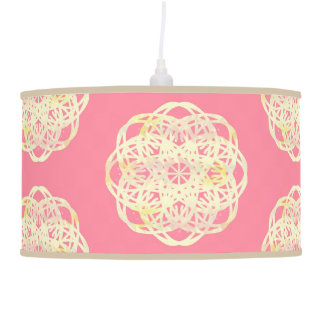 Luminária De Teto Flor macia cor-de-rosa do laço do arco-íris