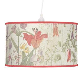 Luminária De Teto Flores aquilégias da íris botânica do lírio que