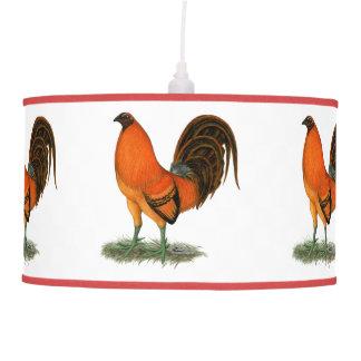 Luminária De Teto Galo do vermelho do gengibre do Gamecock