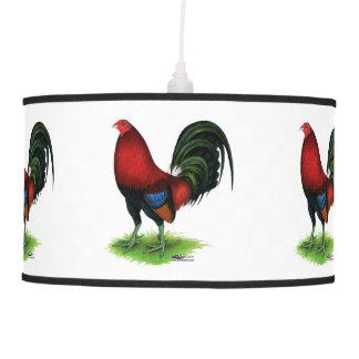 Luminária De Teto Gamecock:  Escuro - vermelho
