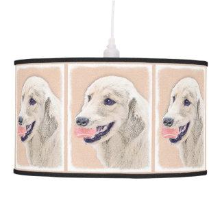 Luminária De Teto Golden retriever com arte do cão da pintura da