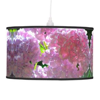 Luminária De Teto Hydrangeas cor-de-rosa brilhantes
