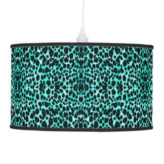 Luminária De Teto Impressão animal do leopardo verde da cerceta que