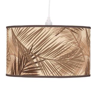 Luminária De Teto Impressão em folha de palmeira, Brown escuro, Tan