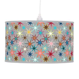 Luminária De Teto Impressão moderno de Starburst, cores da jóia em
