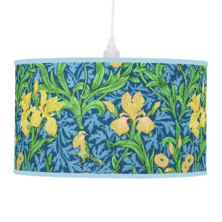 Luminária De Teto Íris, amarelo e azuis cobaltos de William Morris