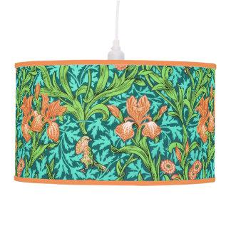 Luminária De Teto Íris, laranja e turquesa de William Morris