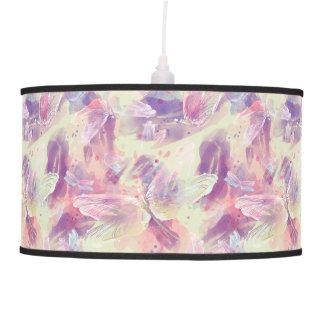 Luminária De Teto Lâmpada abstrata das libélulas da aguarela