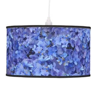 Luminária De Teto Lâmpada azul do Hydrangea