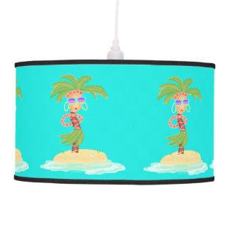 Luminária De Teto Lâmpada da palma de Hula