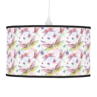 Luminária De Teto Lâmpada das libélulas da aguarela
