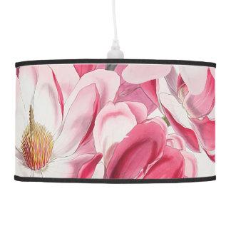 Luminária De Teto Lâmpada de pendente cor-de-rosa da magnólia