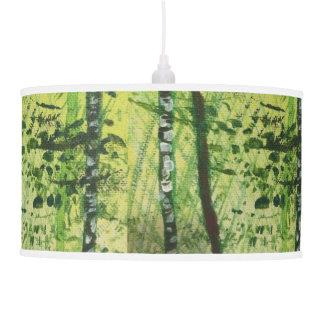 Luminária De Teto Lâmpada de pendente da floresta do vidoeiro