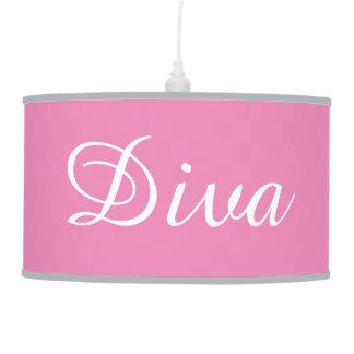 Luminária De Teto Lâmpada de suspensão da diva cor-de-rosa
