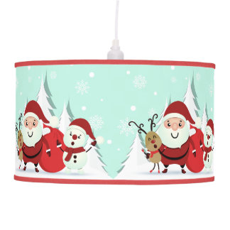 Luminária De Teto Lâmpada do papai noel, da rena & do boneco de neve