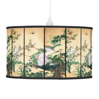 Luminária De Teto Lâmpada dos pássaros da pomba da cachoeira da flor