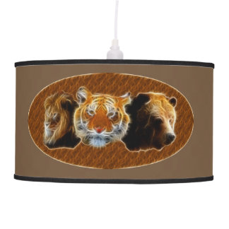 Luminária De Teto Leão e tigre e urso