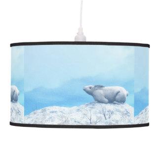 Luminária De Teto Lebre ártica, lepus ártico, ou coelho polar