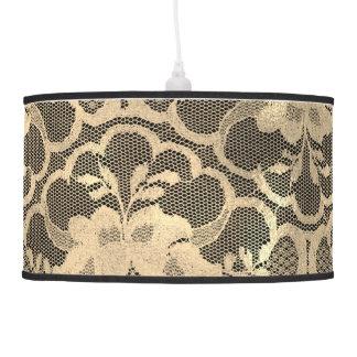 Luminária De Teto Luxo preto Glam do laço do ouro do Sepia do falso