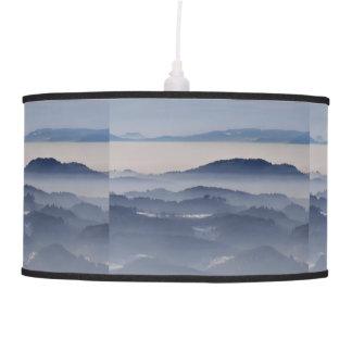 Luminária De Teto Mar de montanhas nevoentas