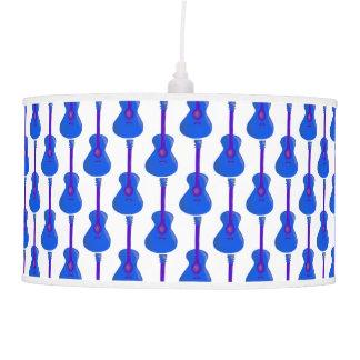 Luminária De Teto máscara azul da luz do impressão da guitarra