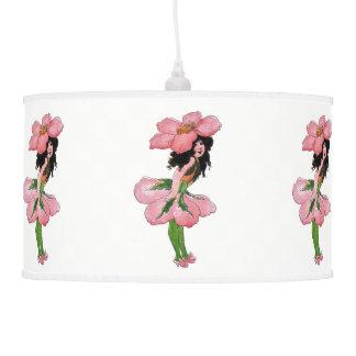 Luminária De Teto Menina bonito do berçário da criança de flor do